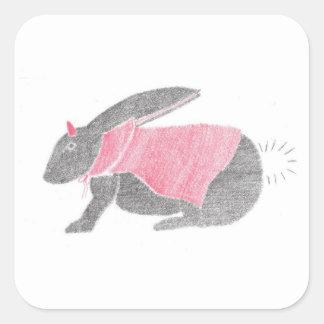 Devil Bunny Square Sticker