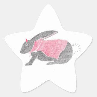 Devil Bunny Star Sticker