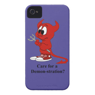 Devil Care for a DEMONstration? iPhone 4 Cover