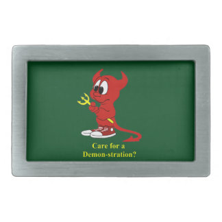 Devil Care for a DEMONstraton? Belt Buckle