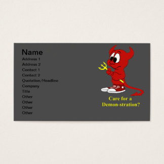 Devil Care for a DEMONstraton? Business Card