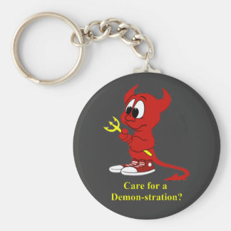 Devil Care for a DEMONstraton? Keychain