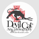 Devil Cat Art Classic Round Sticker