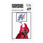 Devil Cat H Postage Stamps