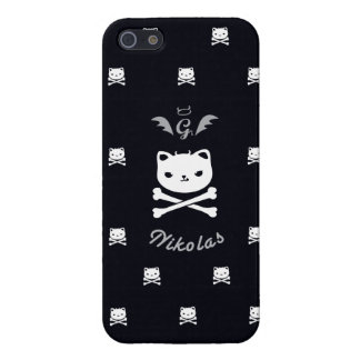 Devil Cat Nikolas, Skull Icon, Iphone 5 Case