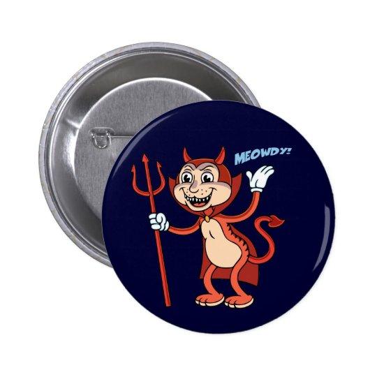 Devil Cat Pinback Button