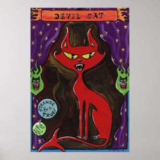 Devil Cat Sideshow Poster