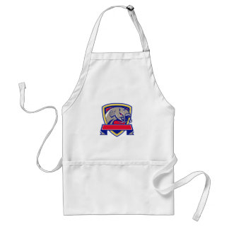 Devil Catfish Head Shield Retro Adult Apron