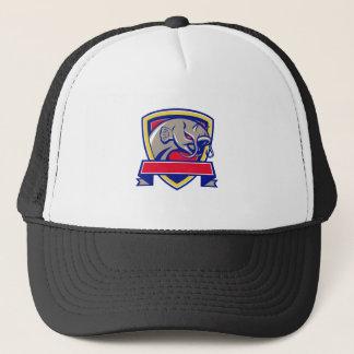 Devil Catfish Head Shield Retro Trucker Hat