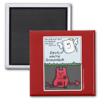 Devil Character Grounded-Devil and Angel Magnet
