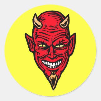 devil classic round sticker