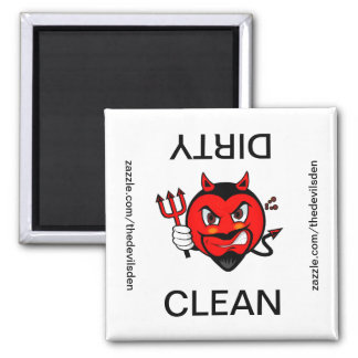 Devil Clean Dirty Dishwasher Magnet