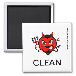 Devil Clean Dishwasher Magnet