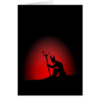 Devil Contemplating Stationery Note Card