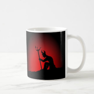 Devil Contemplating Coffee Mug
