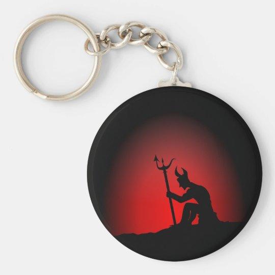 Devil Contemplating Keychain