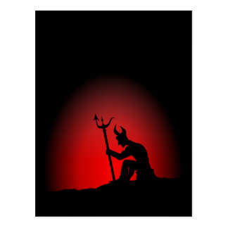 Devil Contemplating Postcard
