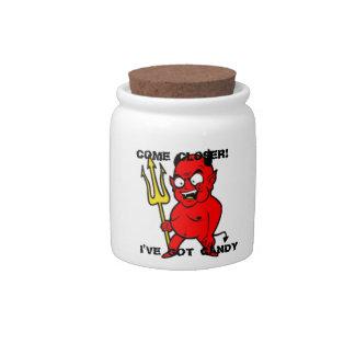 DEVIL COOKIE JAR BY THE VINTAGE MERMAID CANDY DISHES