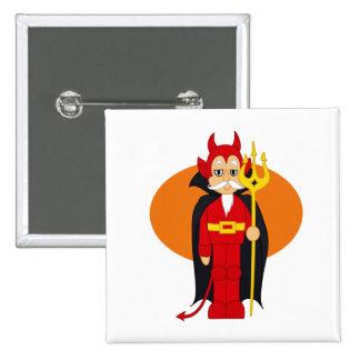 Devil Costume Orange behind Pinback Buttons
