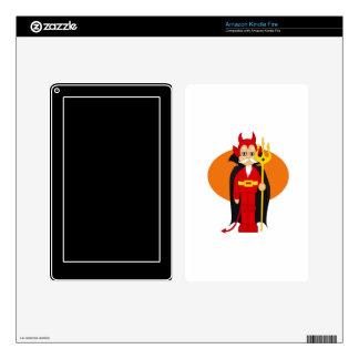Devil Costume Orange behind Kindle Fire Decal