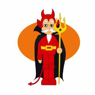 Devil Costume Orange behind Photo Cutouts