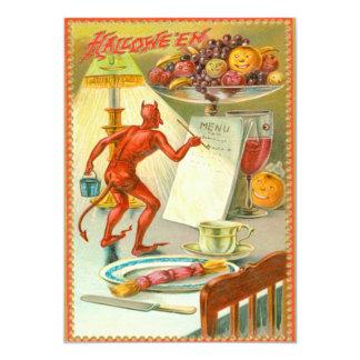 Devil Demon Fruit Dinner Menu Lamp Card