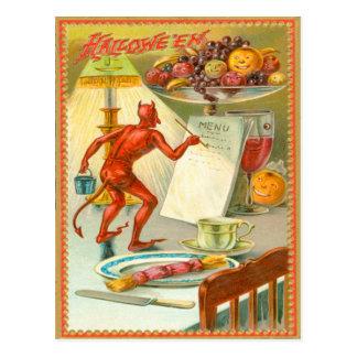 Devil Demon Fruit Lamp Menu Postcard