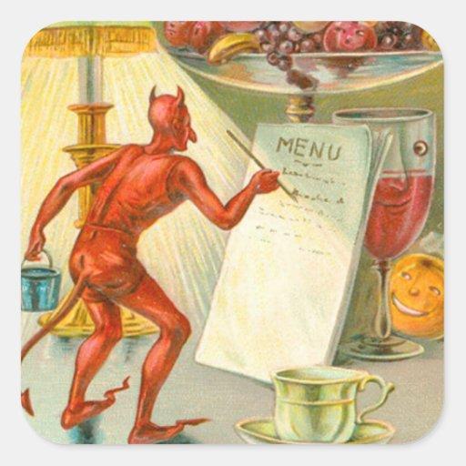 Devil Demon Fruit Lamp Menu Square Sticker