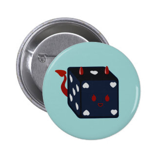 Devil Dice with Hearts Pinback Button