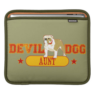 Devil Dog Aunt iPad Sleeve