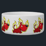 "Devil Dog Bowl<br><div class=""desc"">Funny Pet bowls for our furry friends! Dog pet food bowl. Get one for the water too! Add your dogs name to their food dish!</div>"