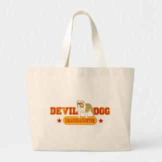 Devil Dog Family Large Tote Bag