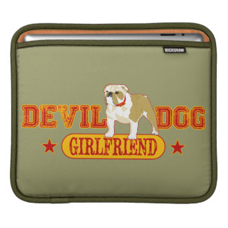 Devil Dog Girlfriend Sleeves For iPads