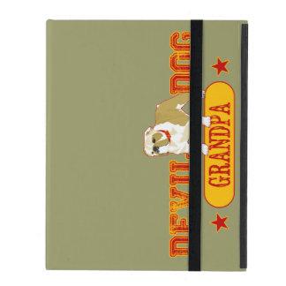 Devil Dog Grandpa iPad Folio Case
