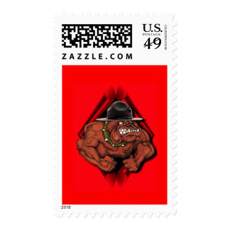Devil Dog Postage Stamp