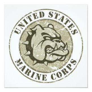 Devil Dog Vintage Emblem Card