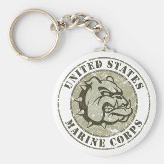 Devil Dog Vintage Emblem Keychains