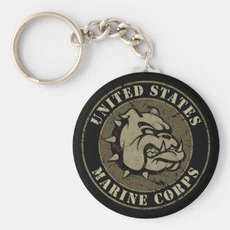 Devil Dog Vintage Emblem Keychain