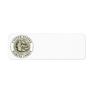 Devil Dog Vintage Emblem Label