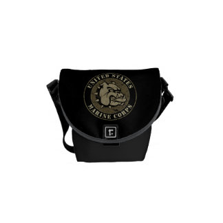 Devil Dog Vintage Emblem Messenger Bag