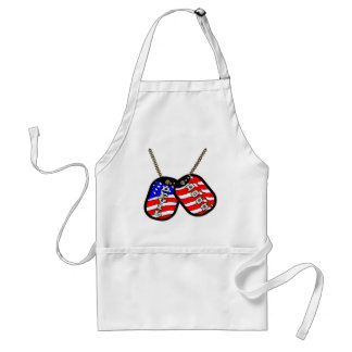 Devil Dogs American Flag Dog Tags Adult Apron