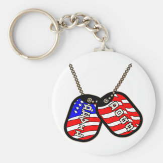 Devil Dogs American Flag Dog Tags Key Chains