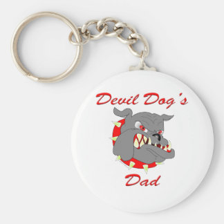 Devil Dog's Dad Keychains