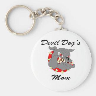 Devil Dog's Mom Key Chain