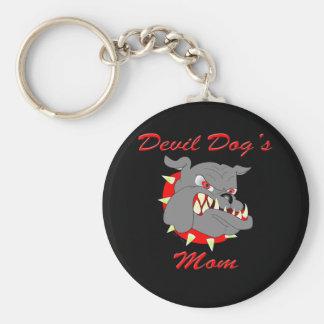 Devil Dog's Mom Keychains
