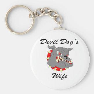 Devil Dog's Wife Keychain