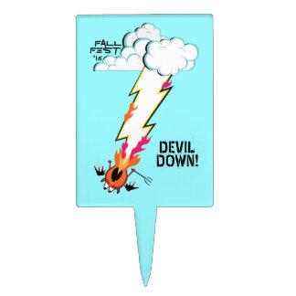 DEVIL DOWN! CAKE TOPPER