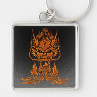 Devil Dragon bronze Keychain