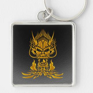 Devil Dragon gold Keychain