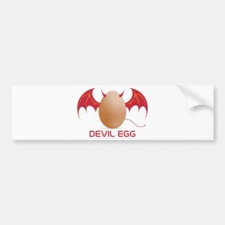 devil egg car bumper sticker